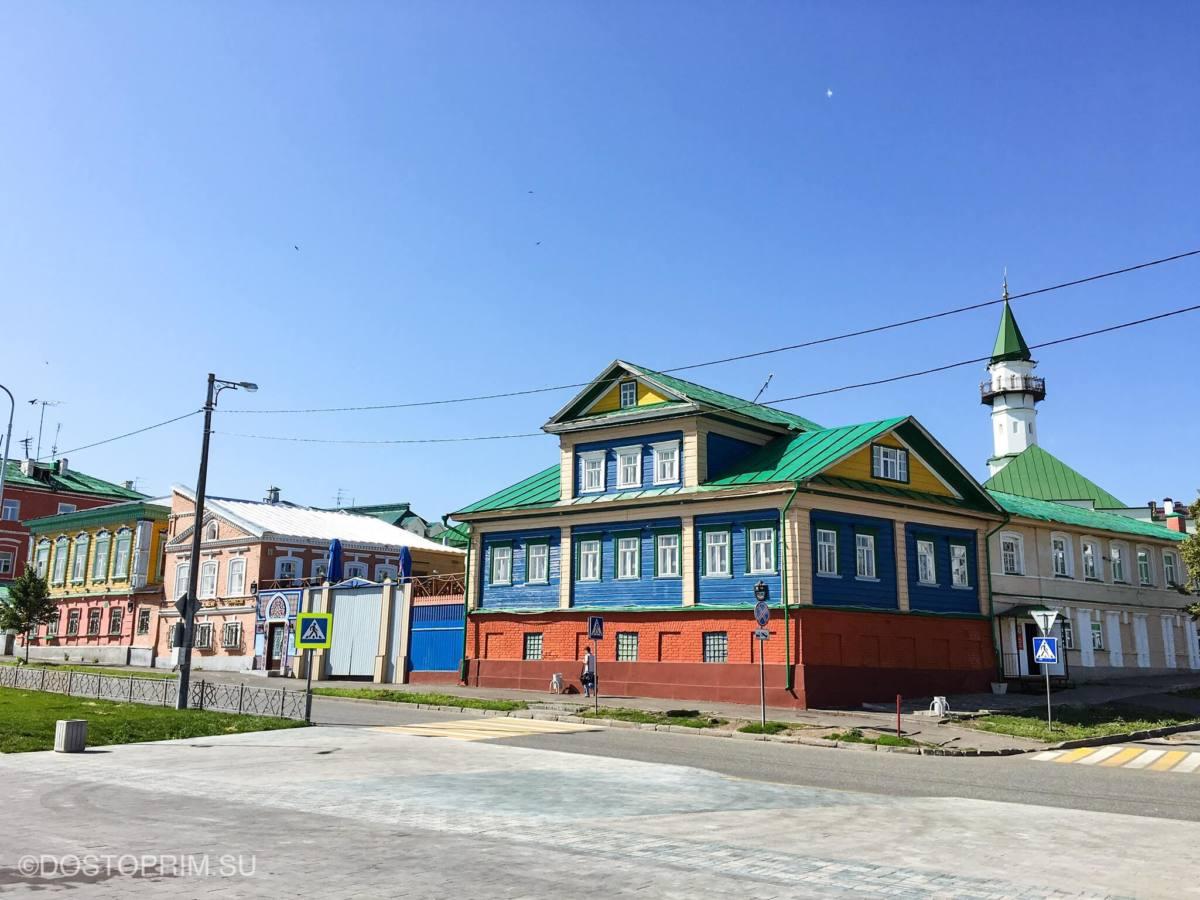 Цветные домики в Старо-Татарской слободе
