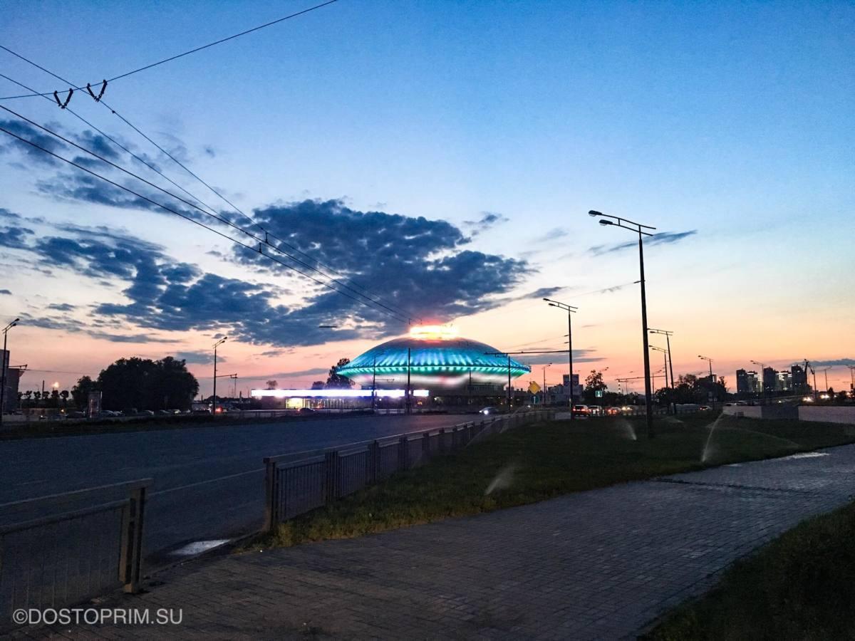 Казанский цирк вечером