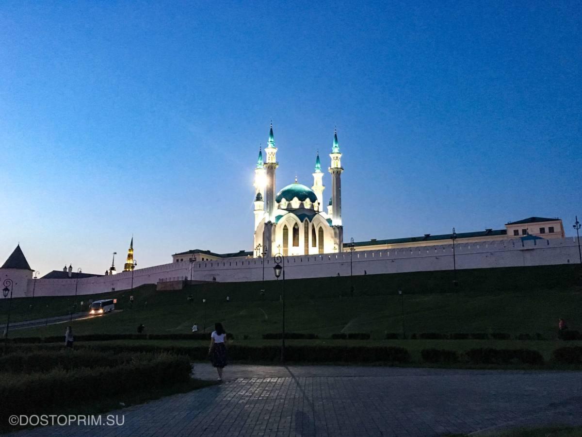 Маршрут экскурсии по ночной Казани на автобусе