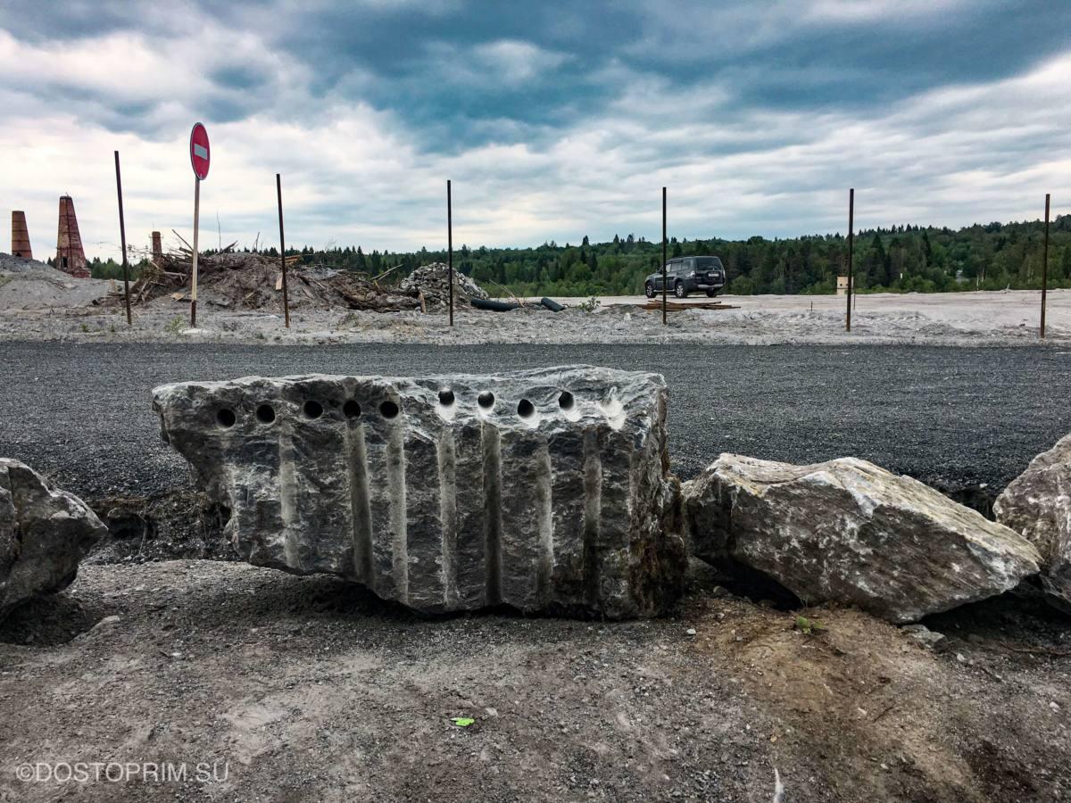 Дорога через парк Рускеала