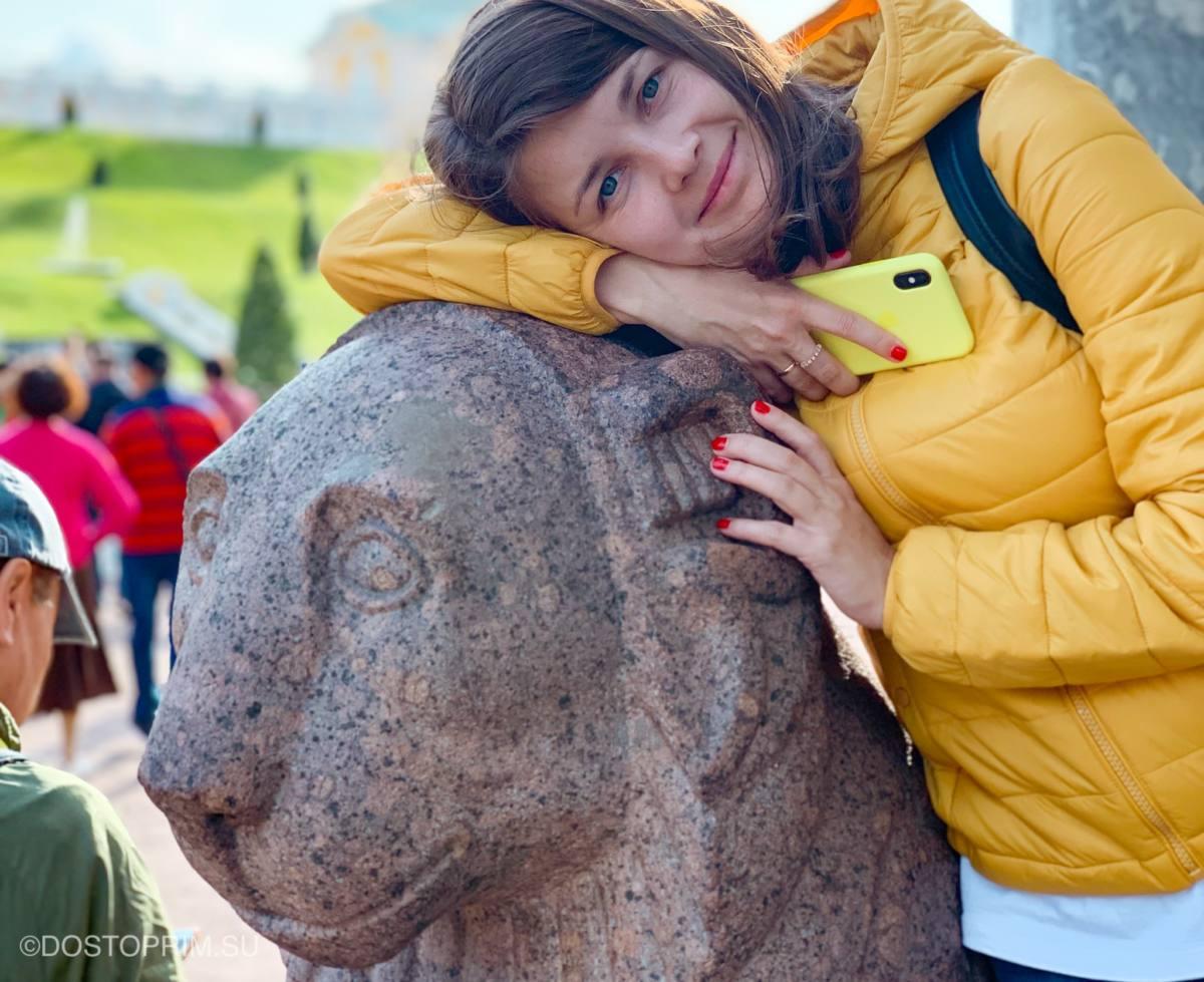 Статуи львов в Петергофе
