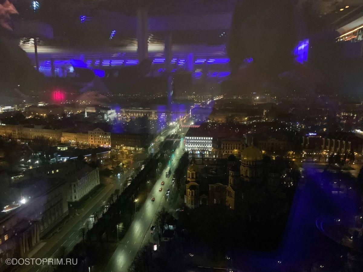 Вид из Skyline bar Рига