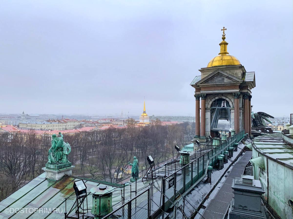 Панорамный вид с колоннады Исаакиевского собора