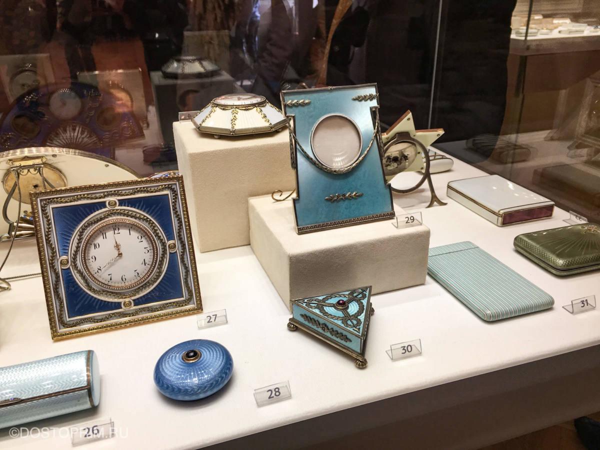Коллекция фарфора в музее Фаберже